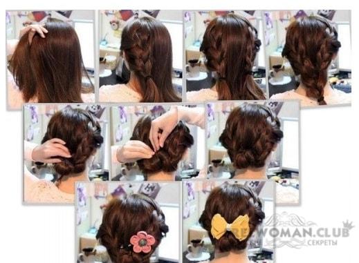 Как сделать причёску самой себе в школу фото