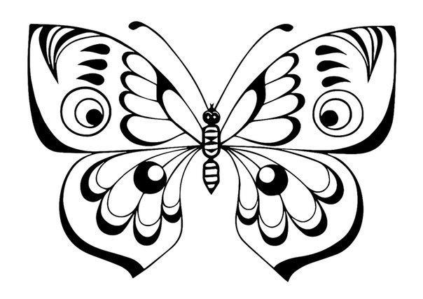 Раскраски с бабочкой для детей