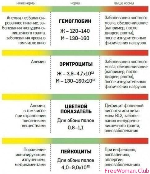 таблица анализов крови норма холестерина в крови