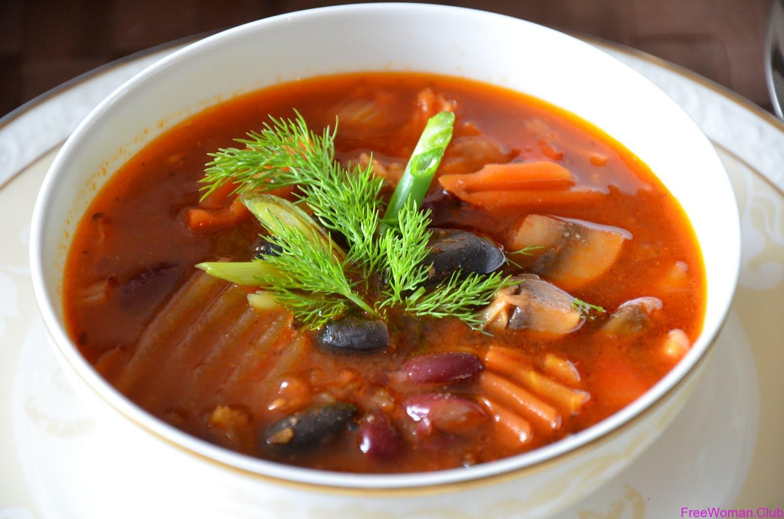 рецепт суп из баранины с фасолью