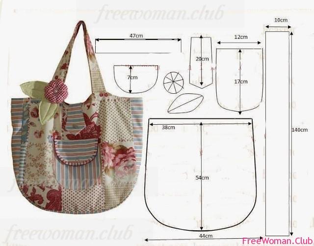 Летняя сумка своими руками с выкройками