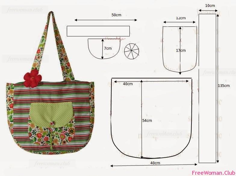 Выкройки сумок из ткани своими руками детские