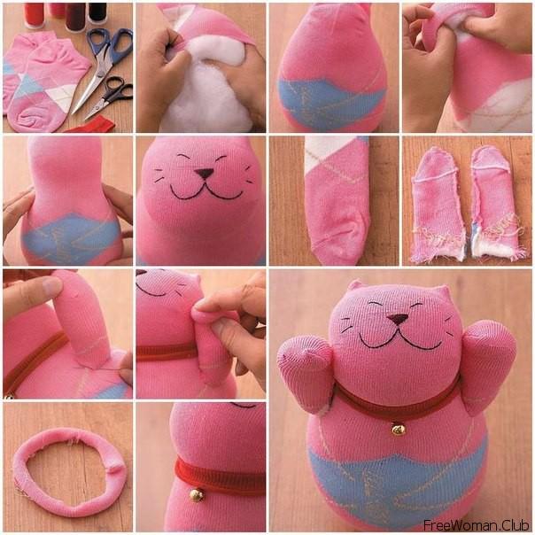 Как сделать мягкую игрушку из носка своими